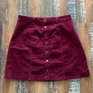 Forever 21- Small Wine Colored Button Up Skirt
